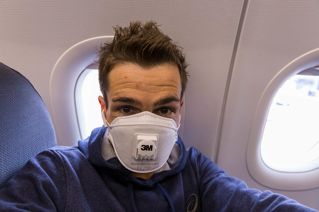Afraid of Coronavirus in a plane: FFP3 protection mask