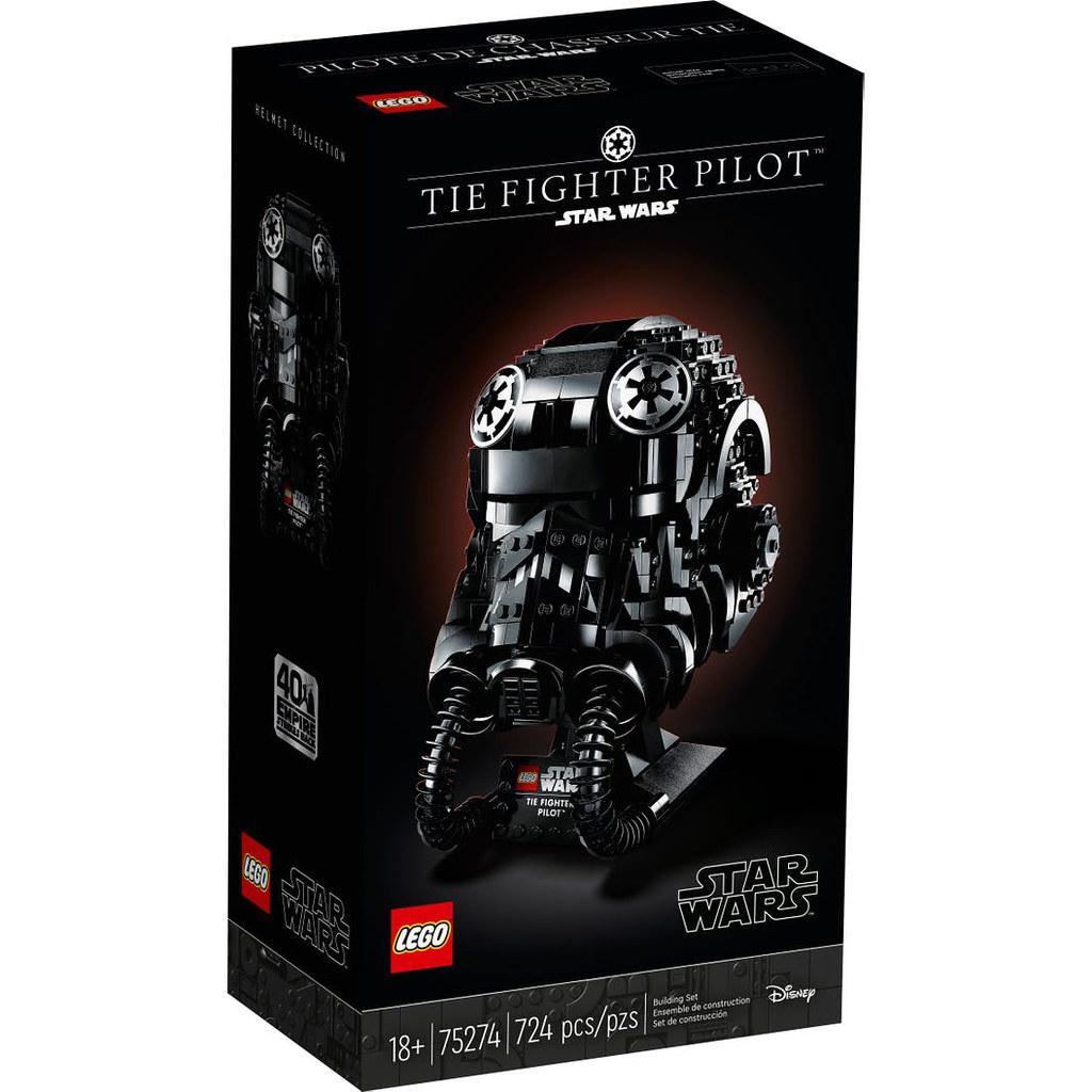 一身漆黑的煞氣駕駛兵參戰! LEGO 75274《星際大戰》鈦戰機駕駛員頭盔 TIE Fighter Pilot Helmet