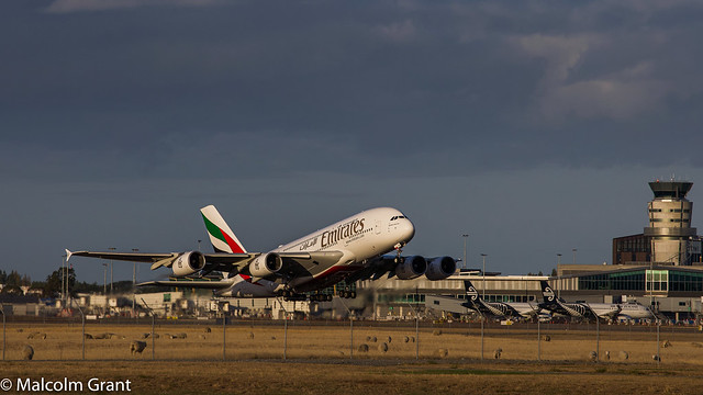A380 going home.
