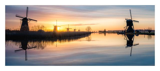 Kinderdijk on a sad but beautiful morning