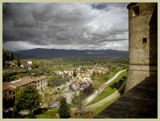 View from the town walls, Anghiari