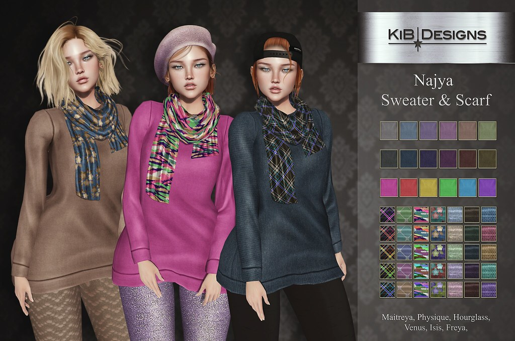 KiB Designs – Najya Sweater & Scarf @Sense Event