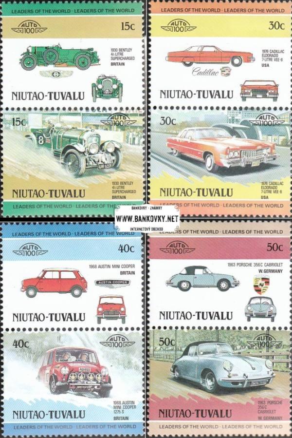 Známky Tuvalu Niutao 1984 Staré automobily, Mint NH