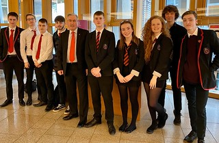 Pupils from North Berwick High School at FMQs | by Iain Gray MSP