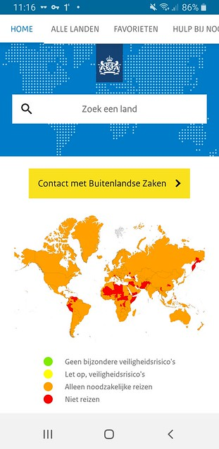 Dutch Foreign Office Travel Advice: Stay home