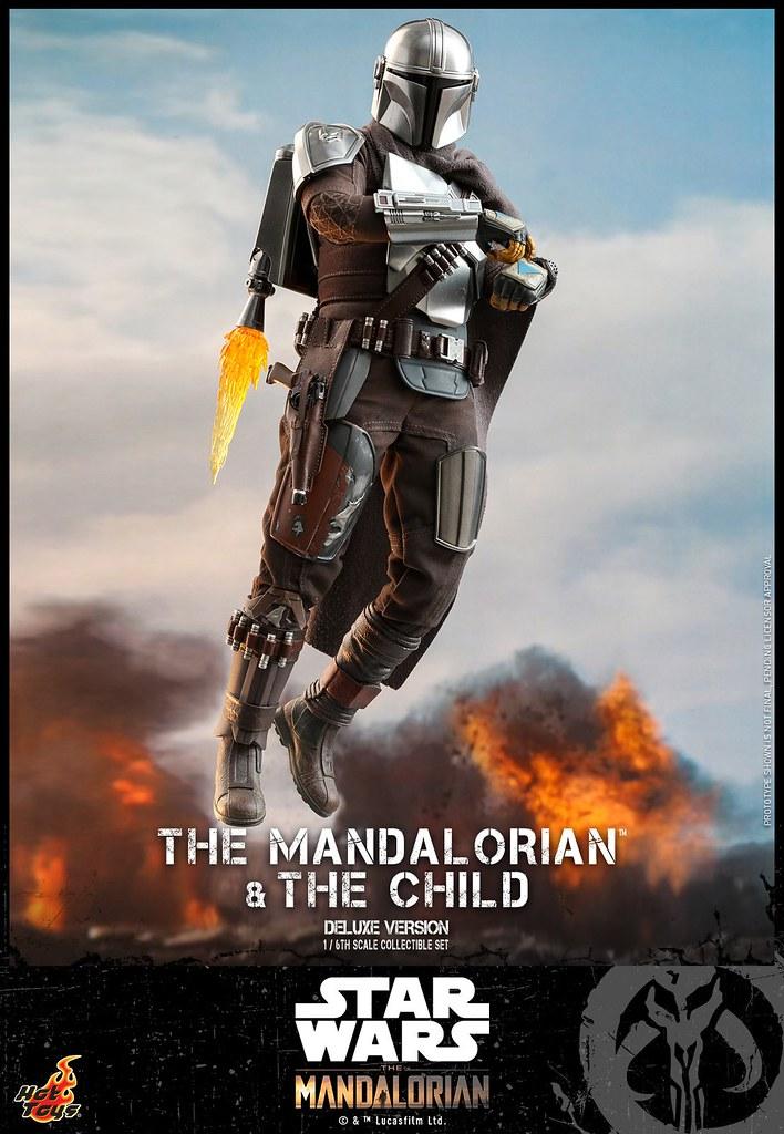 附上尤達寶寶的懸浮太空艙! Hot Toys - TMS015 -《曼達洛人》曼達洛人與孩子 (豪華版) The Mandalorian and The Child (Deluxe Version) 1/6 比例人偶套組