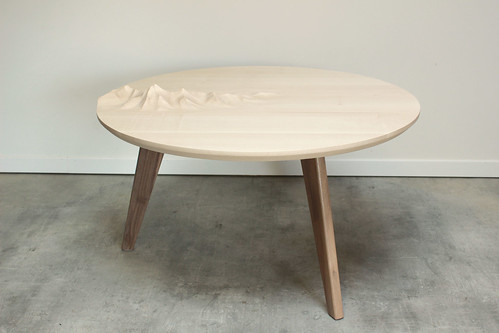 Table basse Relief Sycomore vue 1