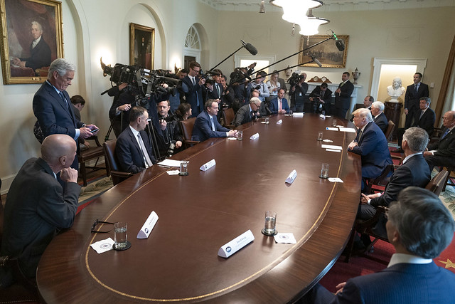 President Trump Meets with Tourism Industry Executives About the Coronavirus
