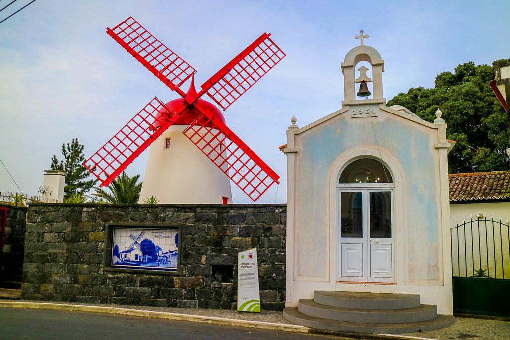 Molino de Pico Vermelho en la isla de São Miguel