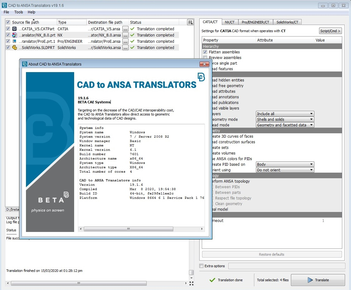 Working with BETA CAE CAD Translator 19.1.6 full license