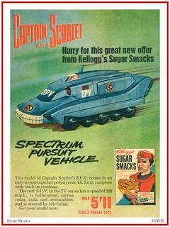 Kellogg's Sugar Smacks - Captain Scarlet SPV  1968