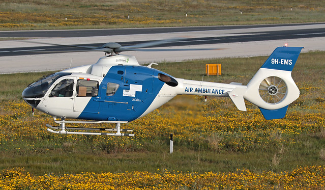 9H-EMS LMML 17-03-2020 Gulf Med Aviation Services Eurocopter EC135T1 CN 48