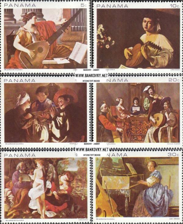 Známky Panama 1968 Hudobné maľby, razítkovaná séria