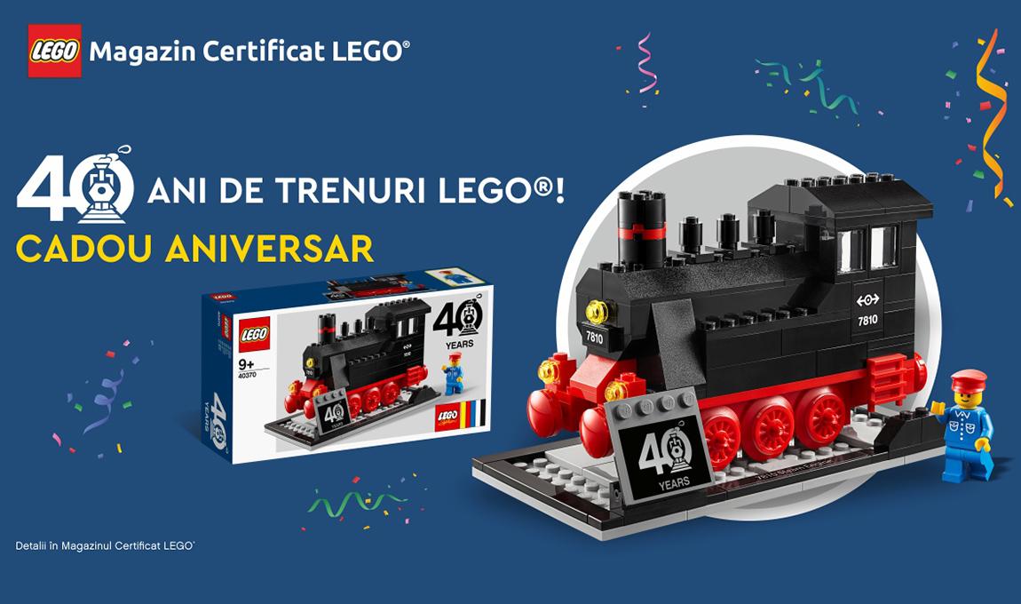 Cadou pentru clientii VIP: LEGO® 40370 – Locomotiva cu aburi