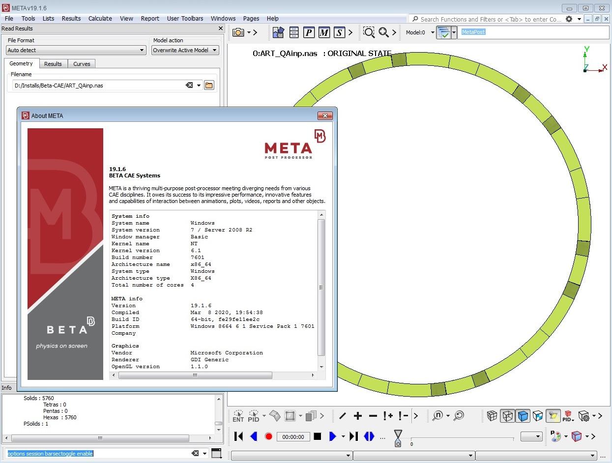 Working with BETA CAE Meta Post 19.1.6 full license