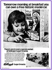 Kellogg's Sugar Smacks - Historic Cars (Dr. Who)  1972