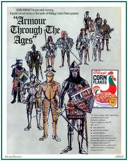Kellogg's Corn Flakes - Armour Through the Ages  1969
