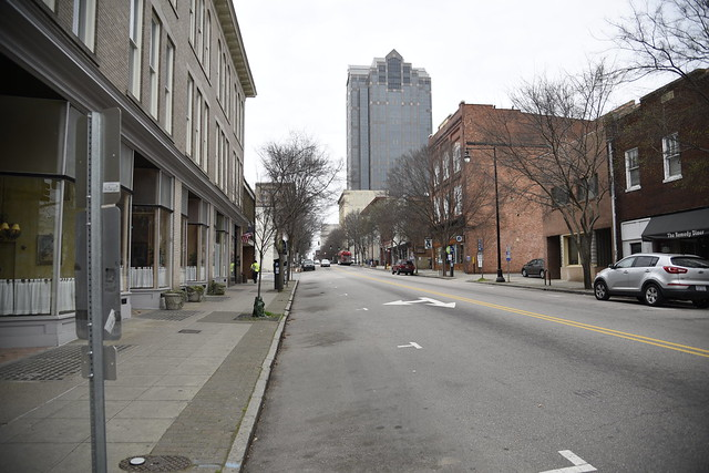 Downtown Raleigh NC in the grips of Covid 19.