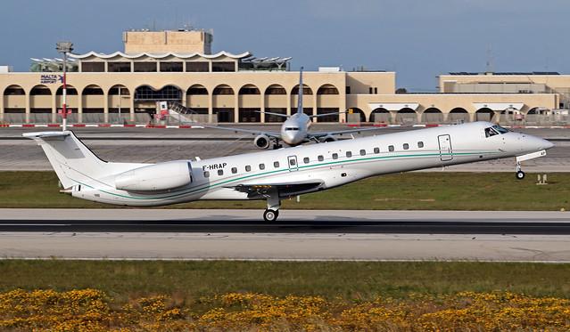 F-HRAP LMML 17-03-2020 Aero4M Embraer ERJ-145LR CN 14501019
