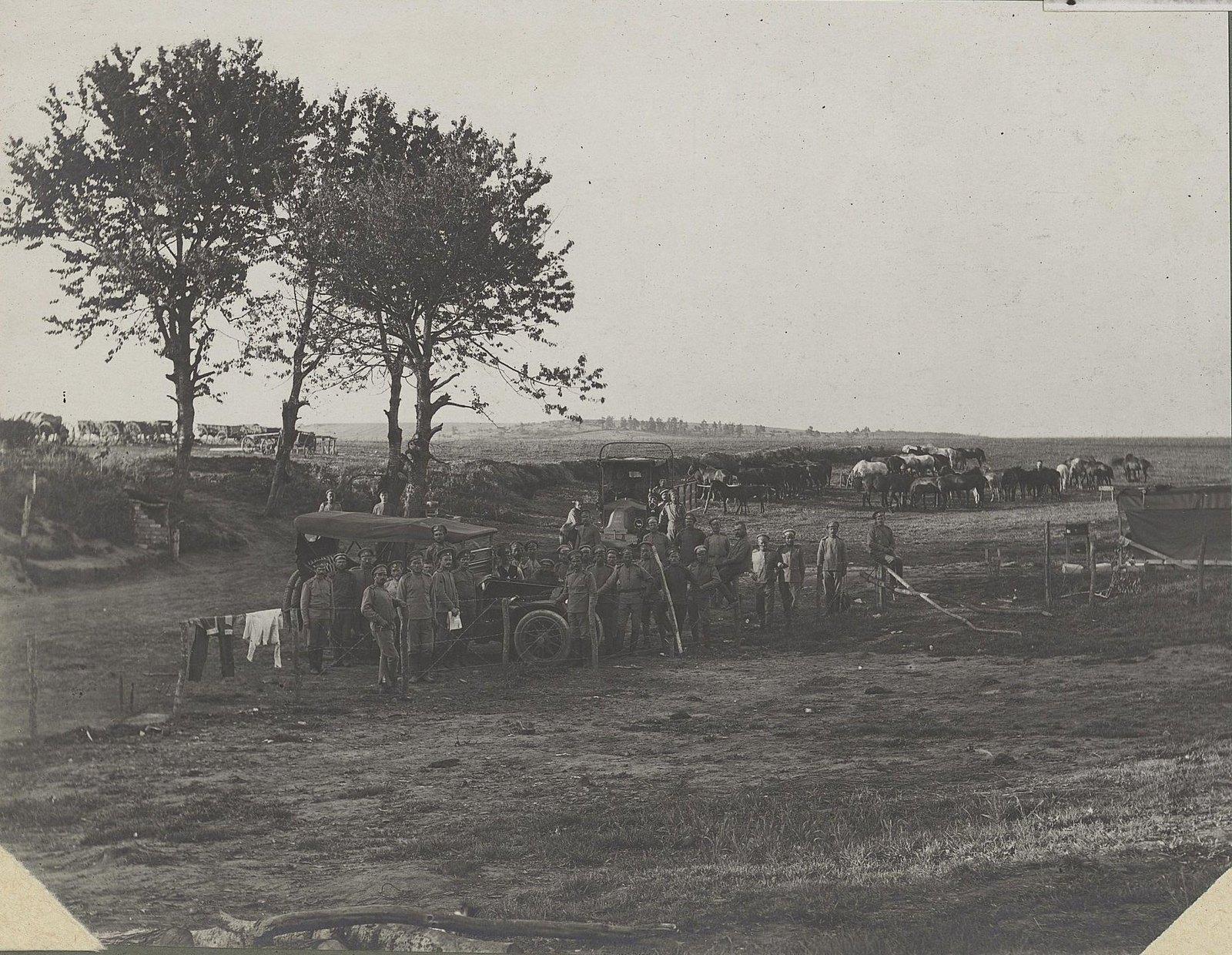 16. Стоянка отряда в деревне Ихровицы (Галиция)