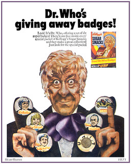 Kellogg's Sugar Smacks - Dr. Who Badges  1971