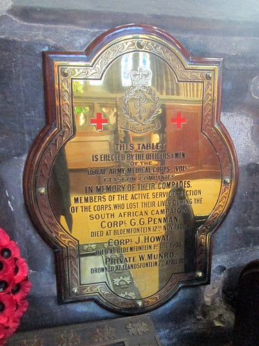 Boer War Memorial, Glasgow Cathedral