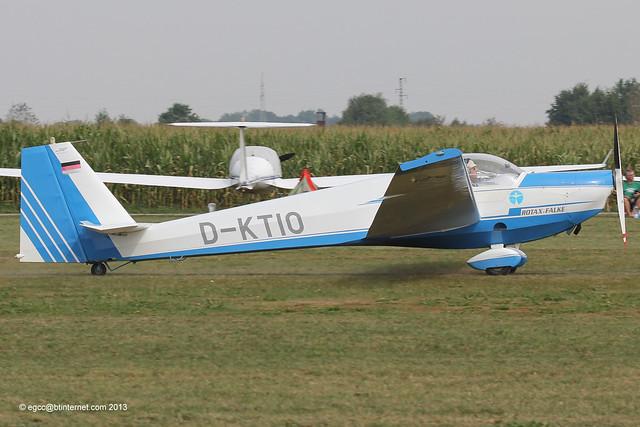 D-KTIO - 1994 build Scheibe SF-25C Rotax-Falke, arriving at Tannheim during Tannkosh 2013