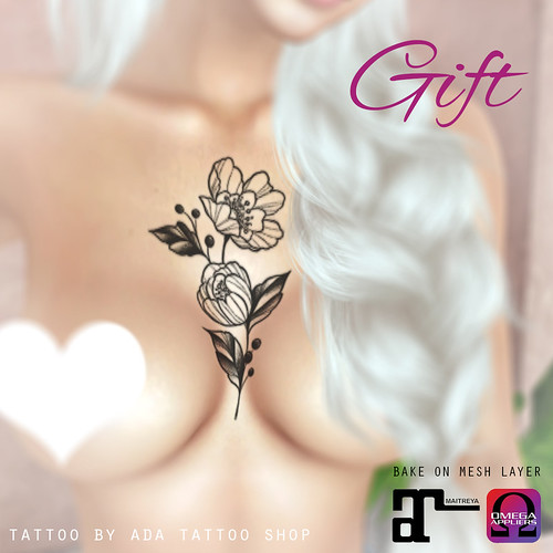 ADA Tattoo Shop FLOWER TATTOO GIFT