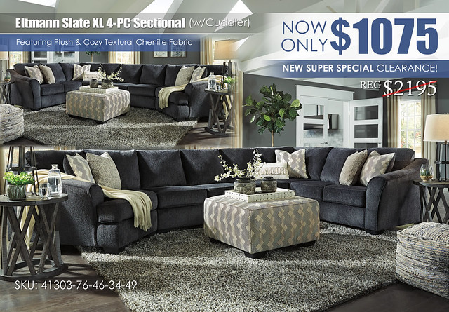 Eltmann Slate XL 4PC Sectional wCuddler_SuperSpecial_41303-76-46-34-49-08