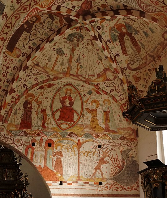 Frescoes in Fanefjord Church - around 1500
