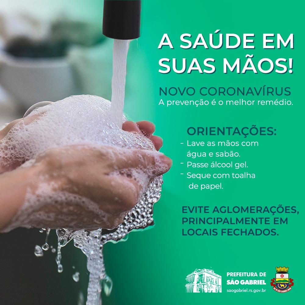 Previna-se contra o novo coronavírus - Prefeitura de São Gabriel