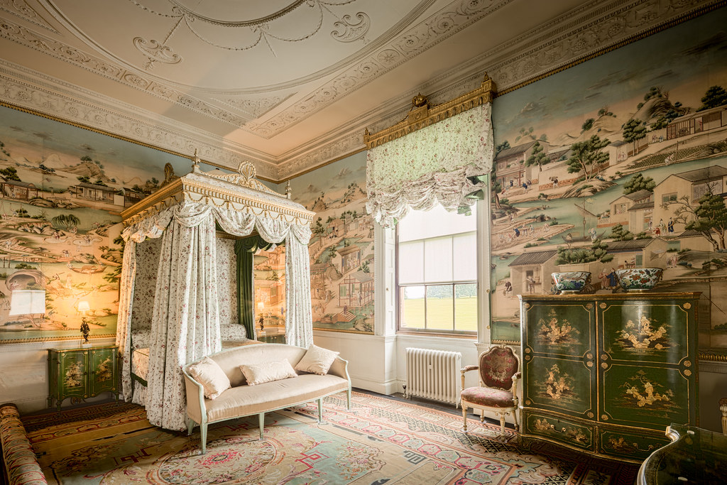 The beautiful East Bedroom inside Harewood House in England [OC][8686x5790]