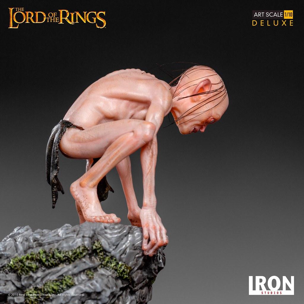 猥瑣、狡詐的臉龐高度再現! Iron Studios《魔戒》咕嚕 豪華版 Gollum Deluxe 1/10 比例全身雕像