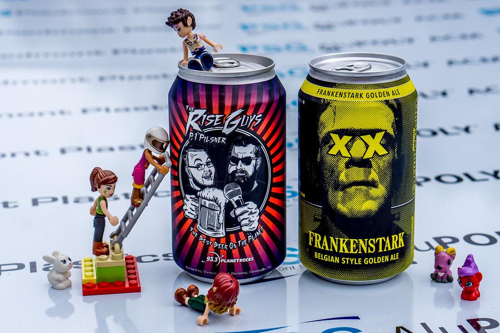 The Rise Guys P1 Pilsner and Frankenstark Belgian Style Golden Ale