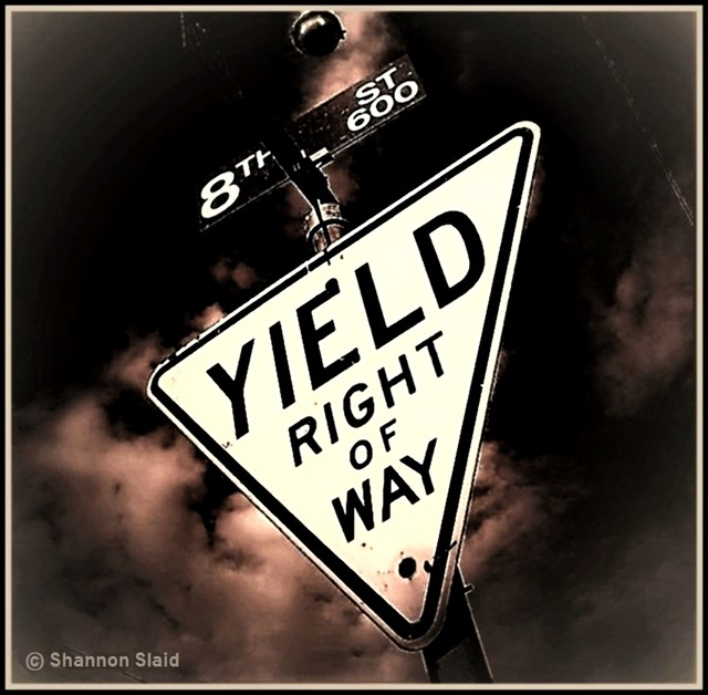 1960's Yellow Yield Sign (SEPIA)