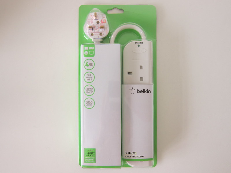Belkin Economy Series 4-Socket Surge Protector - Packaging Front