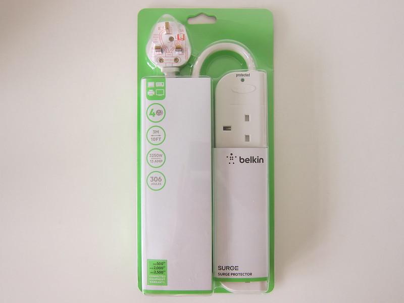 Belkin Economy Series 4-Socket Surge Protector - Packaging Front