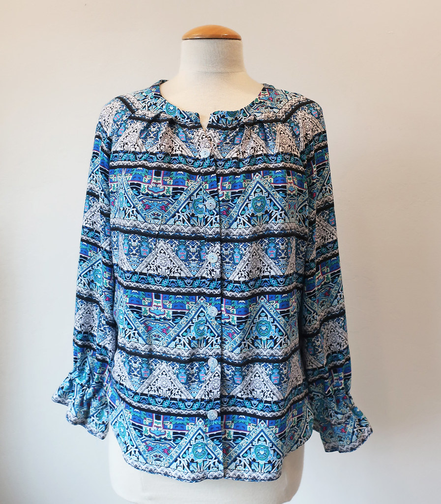 blue rayon top front