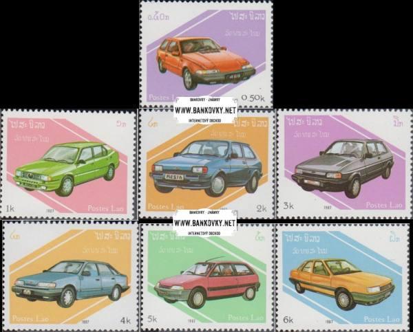 Známky Laos 1987 Automobily