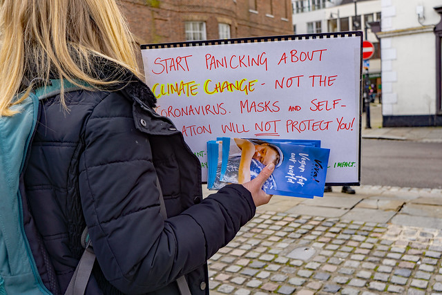 I worry about both: Climate Change Demonstration Hertford