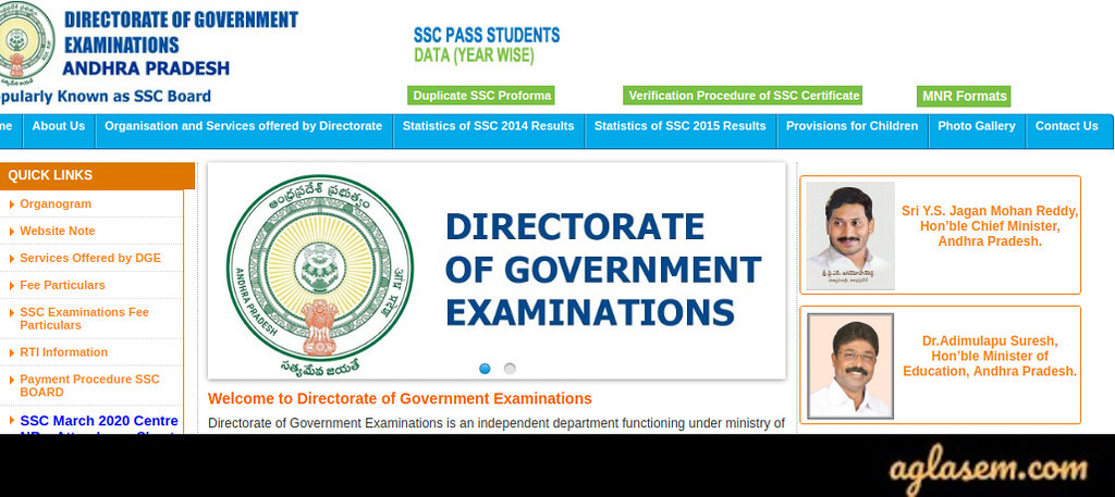 Download Andhra Pradesh SSC Hall Tickets