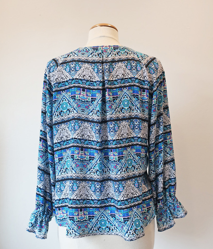 blue rayon top back on form