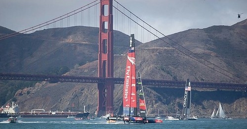 2013 #yachting #sailing #americascup #ac72 #goldengatebridge #postcard #tourist no soccer so like Hawaii going off the trail for now