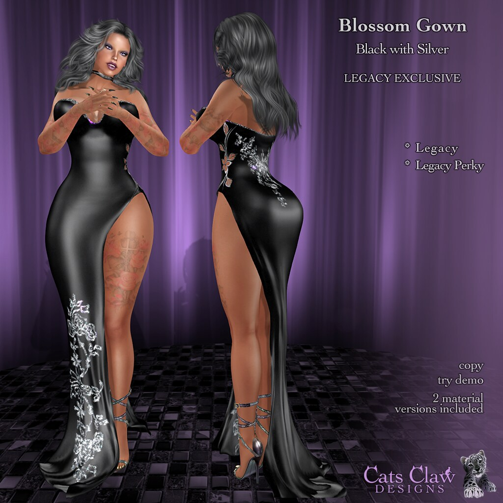 _CCD_ ad Blossom Gown-Black Silver LEGACY- Perky