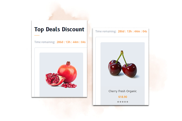 Galvatron Food & Restaurant PrestaShop Theme - Top Deals Discount With Countdown Timer