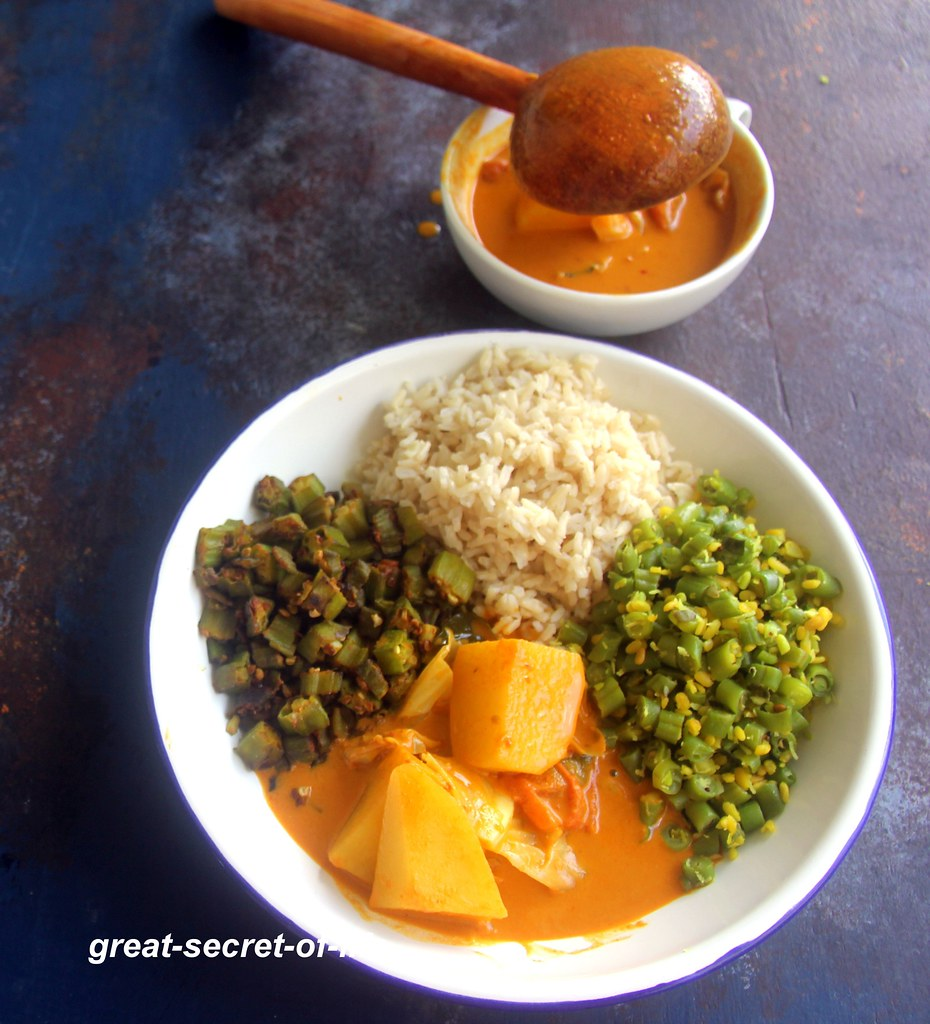 Nonya Vegetable curry - Vegan Nonya curry - Curry recipes