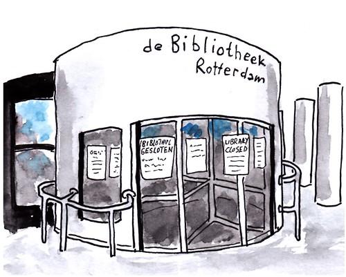 Bibliotheek gesloten / library closed