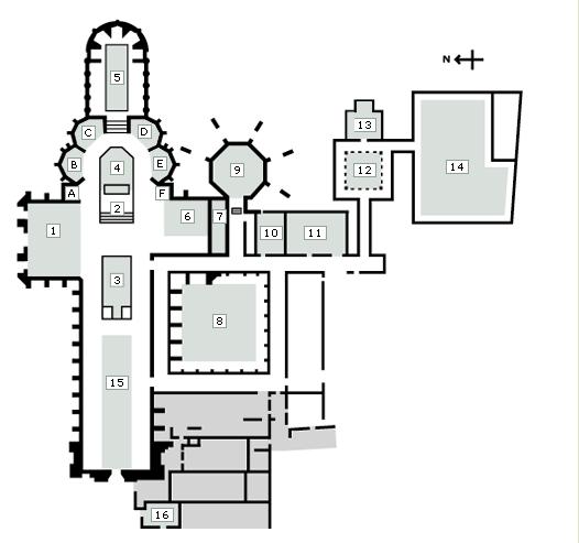 西敏寺位置圖