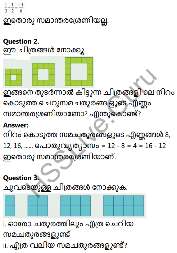 Kerala Syllabus 10th Standard Maths Solutions Chapter 1 Arithmetic Sequences in Malayalam 11