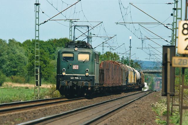DB 140 706 + Güterzug/goederentrein/freight train  - Westbevern